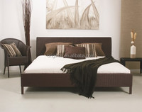 Classic simple rattan hand made home design bed and side table fancy bedroom furniture
