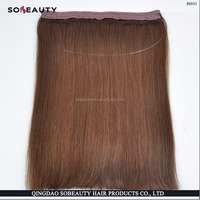 Tight Curl Double Weft Human Hair Cheap Halo Hair Extensions