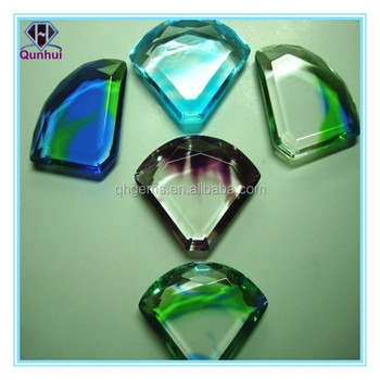 special glossy parachute shaped cz stone