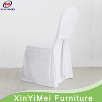 White Cheap Chair Cover With Sash For Wedding