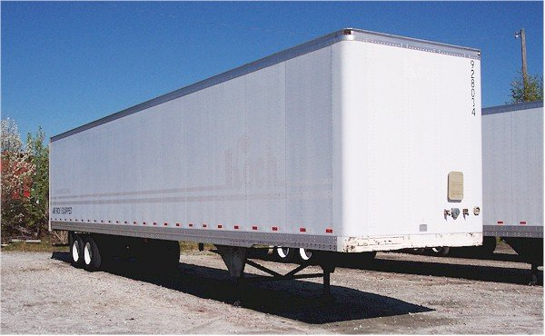 "Used Truck Trailer --2000 Hyundai 53' x 102"" Air Ride Log Post Vans - Roll up Door"
