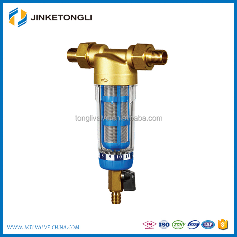 Stainless Steel Mesh Brass Household Pre filtration water pre filter