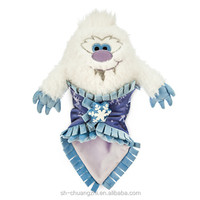 2016 Wholesale Factory custom promational fuzzy Vivid Cute Stuffed Animal Destiny Plush Babies Yeti Snow Plush Doll toys Blanket