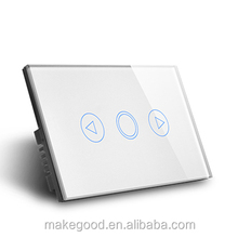 MakeGood Luxury glass panel wifi wireless remote control LED touch dimmer Light switch