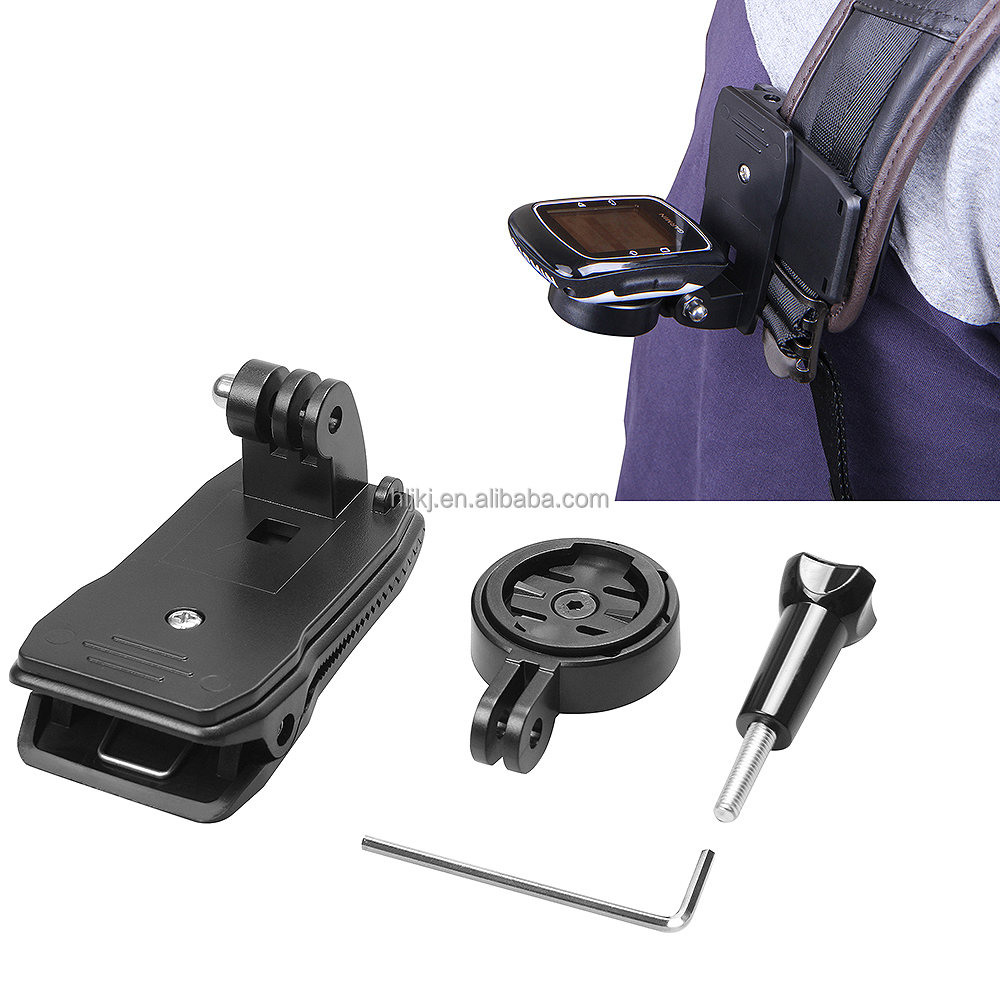 Sports GPS holder adapter with 360 Degree Bag Strap Clip For Garmin Edge Cycle GPS 25 200 500 510 520 800 810 1000
