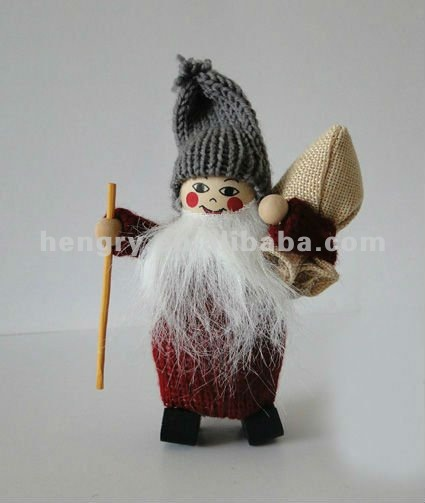 handmade knit father christmas dolls