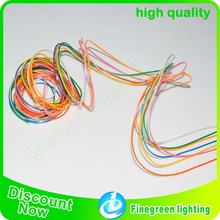 Hot selling multi-color of 1.4mm/2.3mm/ 3.2mm/ 5.0mm wholesale el wire,shenzhen finegreen lighting best neon el wire