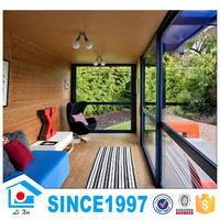 Flat Roof Prefab Villa Light Gauge Steel Structure Steel House