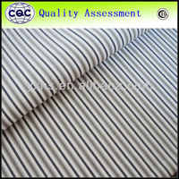 Yarn Dyed Cotton Stretch Grey and White Stripes Fabric