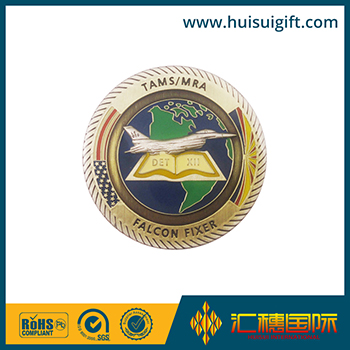 high quality wholesale custom zinc alloy coin shiny copper coin medal
