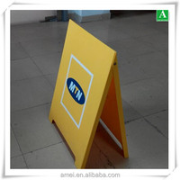 OEM plastic advertising display signage double sides board frames