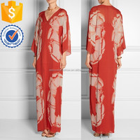 Wholesale women long sleeve floral motif printing long maxi evening dresses