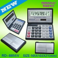 a4 calculator Factory supply folding 12 digits calculator 8855