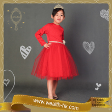 Red Birthday Princess kids evening party Costume Dress