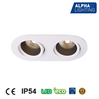 Alpha Lighting COB 10W household reliable kitchen recessed led panel lamp double color panel light COB for house