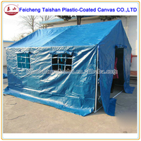 100% WATERPROOF PVC COATED TARPAULIN CAMPING TENT