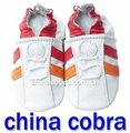 XIAMEN COBRA top quality popular stripe baby shoes infant leather shoes