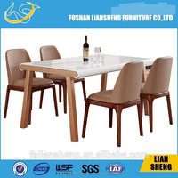 Liansheng furniture 2015 Solid ash Wood Expandable Dining Table Designs / Round Table DT014
