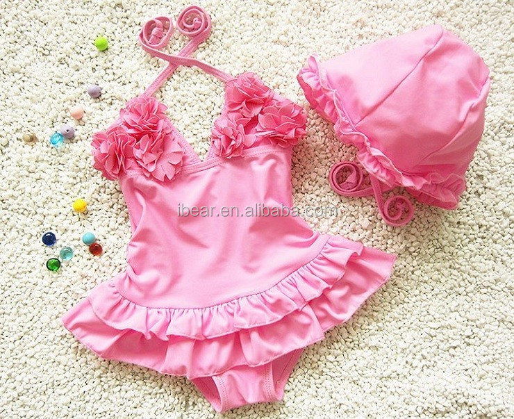 New Designed young girl swimsuit models wholesale kids swimwear one piece swimsuit