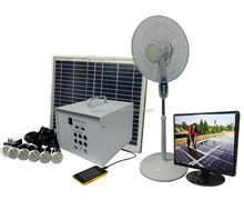 Africa Hot Sale DC Solar Panel Kits Solar Home Lighting System 40w no including dc tv and dv fan
