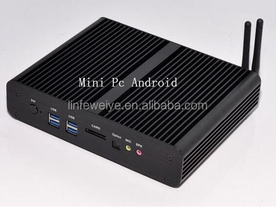 chinese black Intel 5th Gen Core i7 5500U Mini PC android compatible nettop pc 4K HD HTPC TV box 2* LAN paypal acceptable