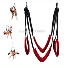 New Red sex Hanging Bed sex Swing Products Bearing Private Position Control Open Thigh Restraint Sling Adult sexy Toy for Women