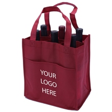 Hot Selling Custom Promotional Imprint High Quality Non Woven PP Gift 6 Bottles Wine Tote Bag