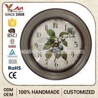 Various Design Custom Fitted French Country Tuscan Style Face Metal Decorative Wall Clock