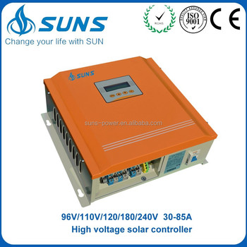 Superior service 240V 75A double cooling fans solar charge controller