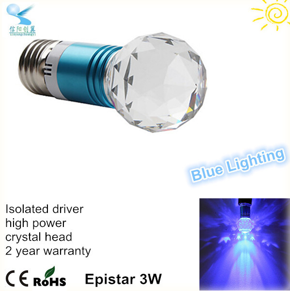 bulk buy from china led light 3w blue light e27 low heat no uv led light bulb