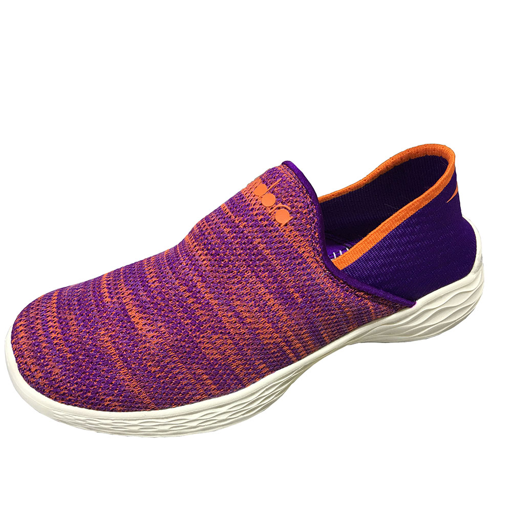 Multicolor Handmade Go Walking Elastic Flyknitted Shoes Women