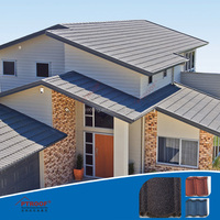 Types of lightweight roofs colorful stone coated steel roofing tile