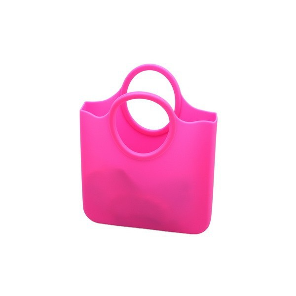custom design promotional pink silicone handbag