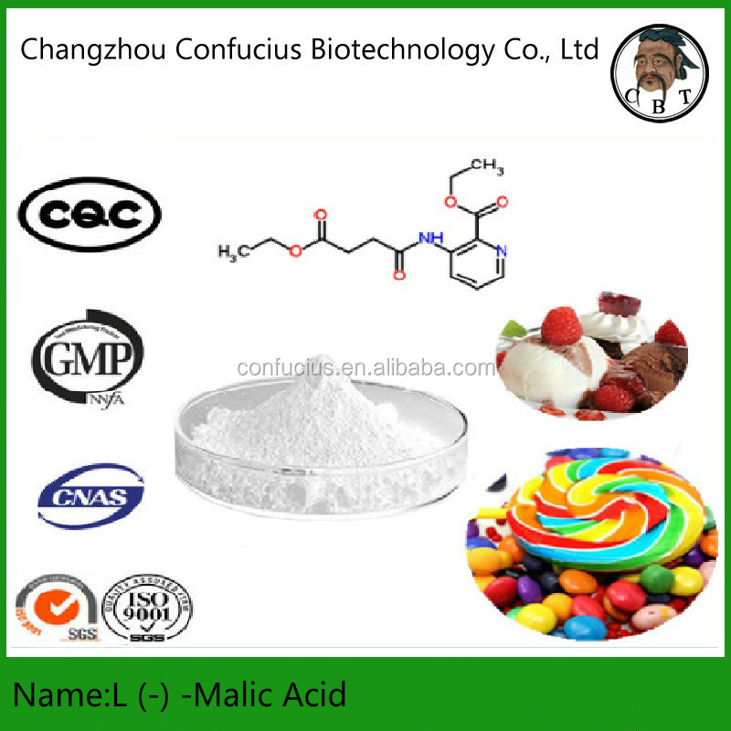 99% Purity Food Addictives CAS 97-67-6 Powder L (-) -Malic Acid