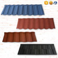 New Zealand design lightweight sun stone coated zinc metal roofing tiles wholesale