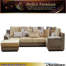 Wooden frame chaise lounge sofa /Sectional furniture fabric chaise lounge sofa/small corner sofa PFS5794
