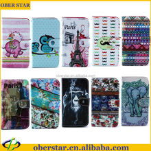 New product printed wallet leather case for Samsung Galaxy S5 i9600