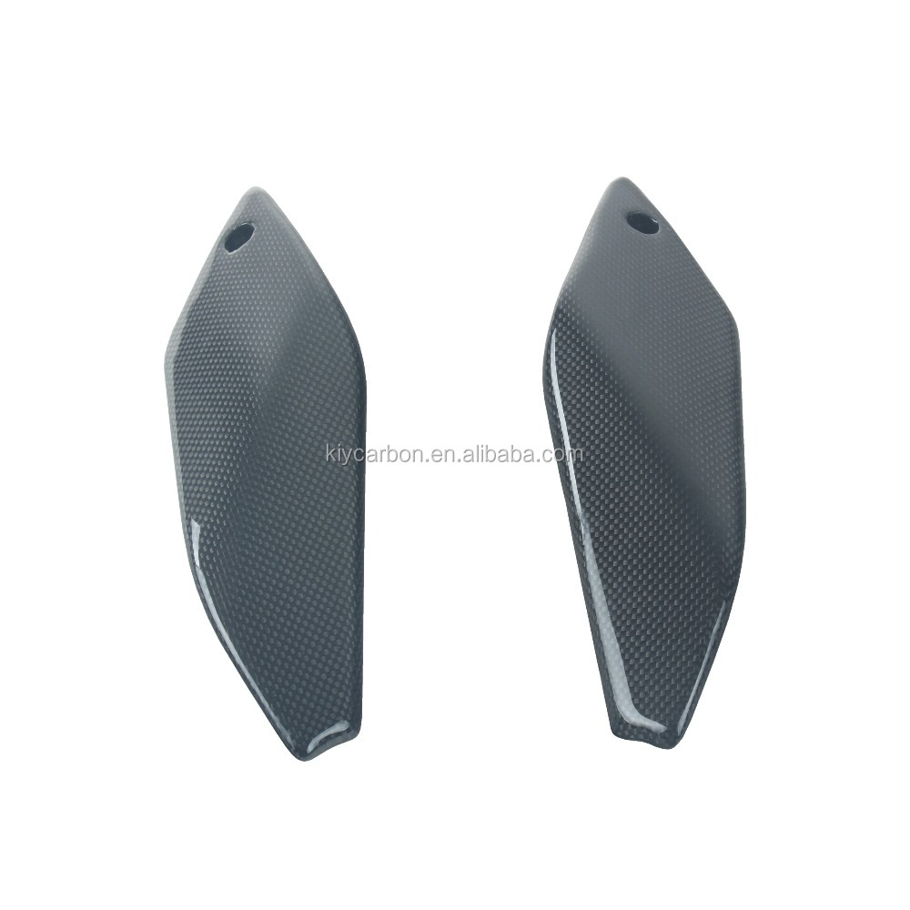 Plain Weave Carbon Fiber Glossy Under Tank Covers for KTM 690 Duke 2012-2013