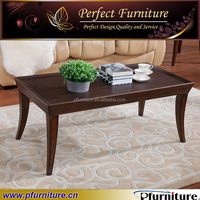 hotel room solid wood coffee table with glass top