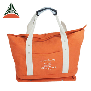 Large Capacity Lady Beach Bag With Shoe Compartment