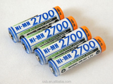 Sanyo AA 2700mAh Ni-Mh 3.3V Rechargeable Battery