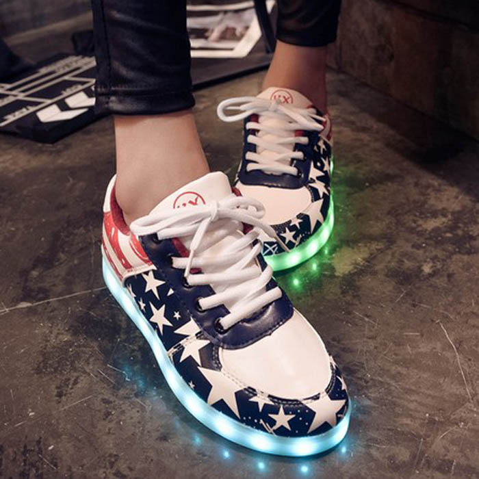 Cheap Men Led Sneakers Women Light Shoes Street Dance Luminou Sport Shoes Light Up Ladies Hip hop Sneakers With light