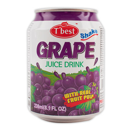 T'best Fruit Juice Drink with Pulp_238ml_Grape