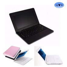 wholesale 10 inch low price mini laptop world cheapest laptop china laptop price in black/white/pink/silver color