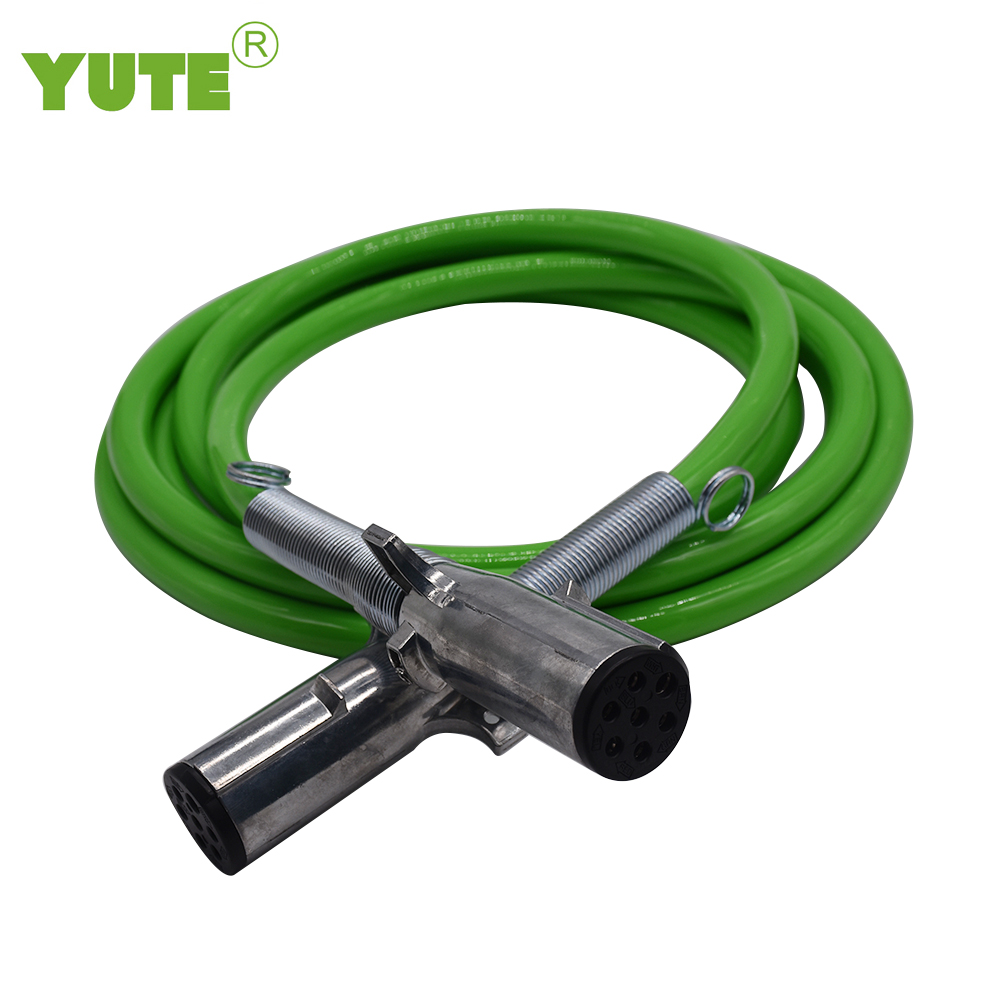 YUTE made 12 ft air power line 3 in 1 abs cable prokect sae j1402 3/8 inch red blue black  brake hose