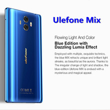 Shopify Dropshipping Ulefone Mix 13MP Dual Rear Camera Mobile Phone 5.5 inch MTK6750T Octa Core Android 7.0 4G China Smartphone