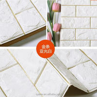 Syene High Quality kids 3d self adhesive PE foam panel brick vinyl peel and stick wallpaper