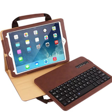 PU Leather Case Cover with Detachable Magnetical Bluetooth Keyboard for iPad Pro9.7