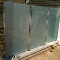 Excellent quality 6mm thick laminated frosted glass