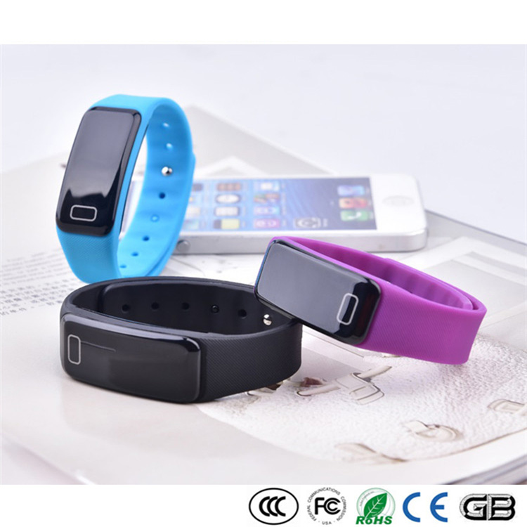Heart Rate monitor Lift wrist bright screen OLED touch screen design Waterproof IP67 Watch Slim Smart Band